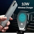 Auto Clamping Qi Wireless Car Charger Mount Air Vent Phone Holder For iPhone