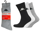 NEW PAIR MENS KAPPA SOCKS CREW TRAINER COTTON SPORTS SOCKS SIZE UK 6-8.5 & 9-11