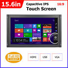 15.6in 16:9 Capacitive IPS Monitor Touch Screen Display HDMI VGA USB 800:1 1080P