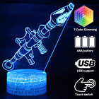 3D Visualization Lamp Desk 7 Colors Change Optical Illusion Led Touch Sensor La