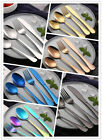 4 Pcs/Set Colorful Iridescent Fork Spoon Stainless Cutlery Set for UK Dining