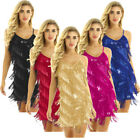 US _Women Sequin Cocktail Dress Sparkly V Neck Bodycon Party Dress Club Nightout