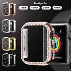 For Apple Watch Series 5/4/3/2/1 Shiny Crystal Diamonds Hard Case Bumper Cover image
