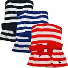 Abercrombie & Fitch Womens Shirt Strapless Tube Top Tee Casual Striped Blouse