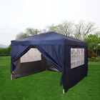 Panana New 3x3m Waterproof Pop Up Gazebo Garden Wedding Party Tent with Sides