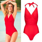 AVON Ladies Womens Red Embellished Tummy Control Swimsuit One Piece Size 22 24