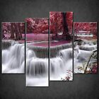 THAILAND WATERFALL RED FOREST RIVER CASCADE CANVAS WALL ART PRINT READY TO HANG