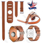 For Apple Watch 40 38 44mm iWatch Series 5 4 3 2 Herme Leather Band Wrist Strap image