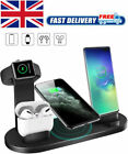 Wireless Charger Stand 4 In 1 Charging Dock Apple Watch Series/iPhone Station UK