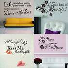 Quote Mural Words Art Vinyl Wall Sticker Home Kitchen Room Decal Decor Family M