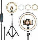 10' 8' Selfie Ring Fill Light with Tripod Stand Ringlight for Live Stream Makeup