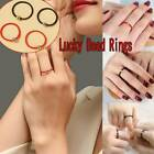 Handmade Red/black String Weave Rope Ring Lucky Gold For Women Copper Rings A1p0