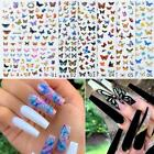 3D Nail Art Stickers Self-adhesive Butterfly Decals Nail Art Decoration