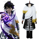 Fairy Tail S3 Cosplay Zeref Dragneel Emperor Costume Halloween Adult Outfit Cape