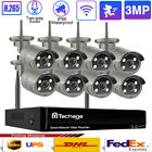 8CH Wireless NVR 3MP Human Detecor Outdoor CCTV Video Security Camera System Lot