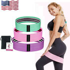 US Hip Resistance Bands Loop CrossFit Exercise Fitness Yoga Gym Booty Leg Bands image