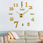3D DIY Big Wall Clock Mirror Wall Sticker Living Room Home Decor Art Decal Craft