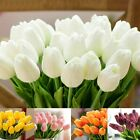 Artificial Fake Tulip Flowers Bouquet Real Touch Home Garden Wedding Plant Decor