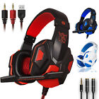 Gamer Mic Gaming Headset Stereo Bass Surround Headphone For PS4/Xbox One/PC/PSP