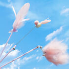 3PCS Fashion Cat Toy Feather Wand Interactive Pet Kitten Chaser Teaser Stick
