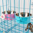 Stainless Steel Pet Cat Rabbit Feeding Fixed Bowl Cage Food Water Feeder-Dog ONE