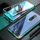 Magnetic Case for Oneplus 7T 7 Pro 6 6T Case Double-side Glass Metal Frame 360 F