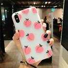 Fresh Simple Peach Pattern Soft TPU Mobile Phone Case Compatible With iPhone