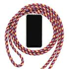 Adjustable Soft TPU Cell Phone Case With Lanyard Necklace Shoulder Neck Strap Ro