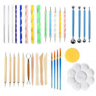 DI- DIY Multifunctional Art Craft Clay Pottery Sculpting Modeling Tools Kit 33Pc image