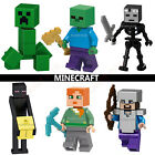 Minecraft CUSTOM Lego Building Mini Figures Alex Steve Wither Golem Creeper Pigs