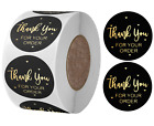 Thank You For Your Order Stickers Professional Black Pink Business Labels 25mm