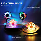 Portable Hanging Neck Mini Fan USB Rechargeable Dual Cooling Sport Neckband Gift