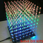 3D 8S LED Light Squared Kit 8x8x8 Cube DIY Hand-Made Gift Home Decoration Hot