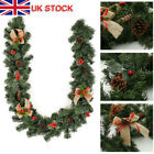 1.8M/6FT Christmas Garland Pine Cone Xmas Fireplace Decoration Artificial Wreath