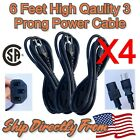 1-6 Lot Sale High Quality 6FT CSA 3-PRONG PC POWER Supply Cable CORD 10A 125V