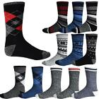 Mens Thermal Socks Holds Ultimate Heat Boot Insulated Thick Warm Winter Striped