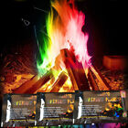 Set of 3 6 12 Mystical Fire Powder Sachets Magic Flame Dust Colour Firepit BBQ