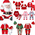 Kids Newborn Baby Boys Girl Christmas Home Party Santa Claus Clothes Outfit Set