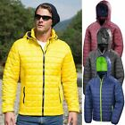 Mens Blizzard Jacket Result Urban Outdoor Box Quilted Unisex Warm Hooded Coat