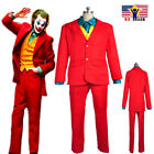 Kyпить Joker New Mens Movie Arthur Fleck 4pcs Suit Set Clown Halloween Cosplay Costume на еВаy.соm