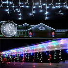 13-130FT LED Fairy Icicle Curtain Lights Christmas Party Decor Waterproof Lamps