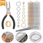 Silver Gold Plated Open Split Jump Rings Connectors Pliers Kit Jewelry Findings