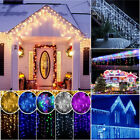 96-960 LED Fairy Icicle Curtain Lights Wedding Party Xmas Decor Lamp Waterproof