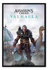Assassins Creed Valhalla Poster FRAMED CORK PIN BOARD With Pins | UK Seller