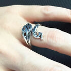 Unisex Retro Adjustable Phoenix Shape Yarn knitting ring Open Finger Ring Latest