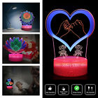 Funny 3D Night Light 3 Gradient Color Touch Desk Table Lamp Halloween Xmas Gift