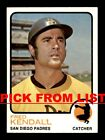1973 Topps #219-528 EX/EX-MT Pick From List All PICTURED