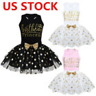 US Baby Girls Birthday Outfits Tutu Dress Top T-shirts Party Skirts Set Costumes