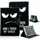 For 8 in Lenovo LG Tablet Universal PU Leather Stand Folio Case Cover Shockproof