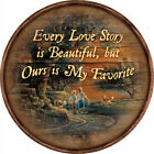 """Love Story 21"""" Round Wood Sign by Terry Redlin"""